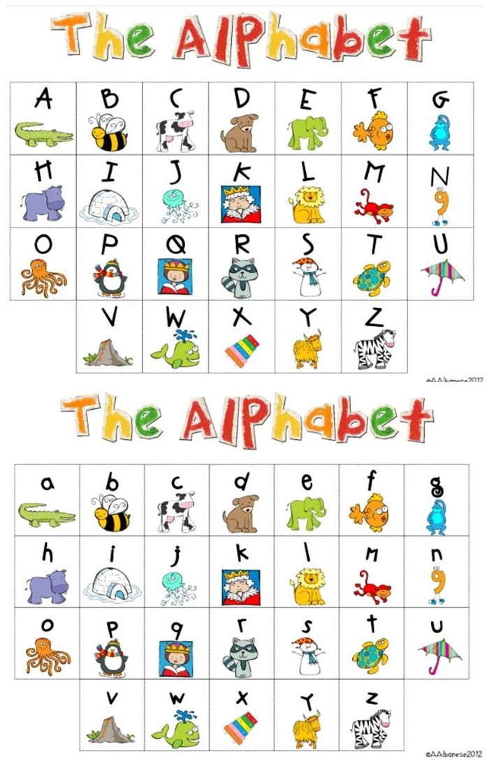 Printable Letters Ofthe Alphabet Chart