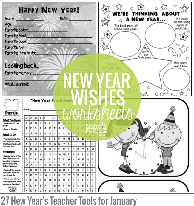 new year wishes worksheets