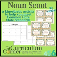 Noun Game: Scoot Style for 4th, 5th and 6th