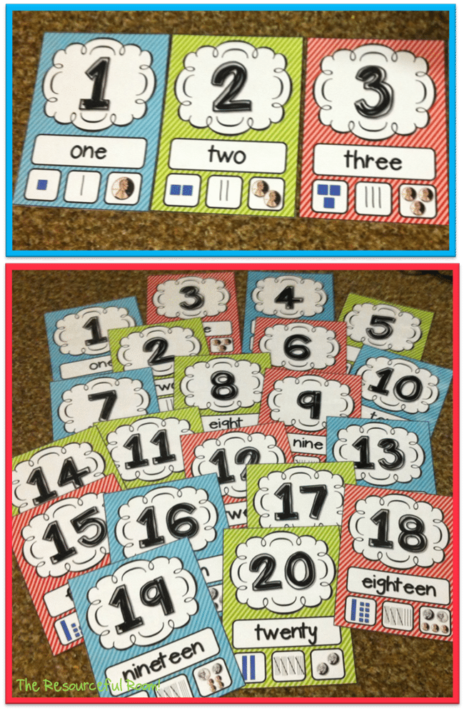 Number Posters 1-20 - Collection Free Classroom Posters - Teach Junkie