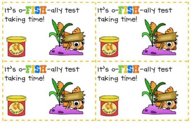 Standardized Testing - 12 Ways To Brighten Testing Time - O-fish-ally Test Time - Teach Junkie