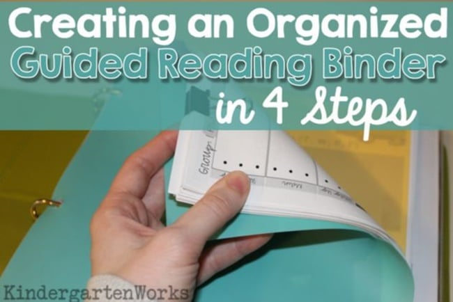 Organized Guided Reading Binder - Teach Junkie