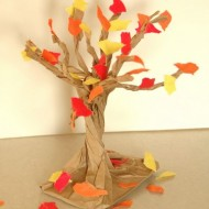 Easy Fall Paper Bag Tree {Tutorial}
