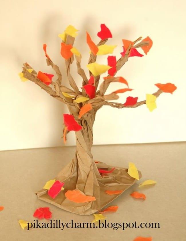 Paperbag Fall Tree - Teach Junkie