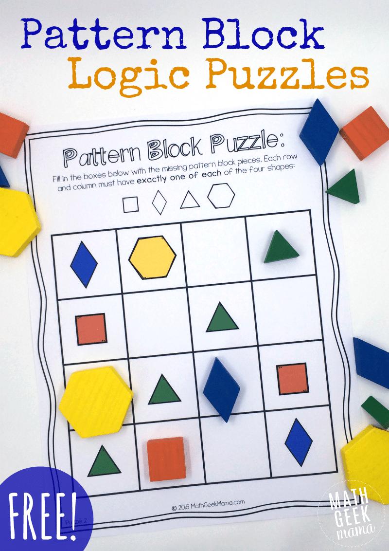 Free Pattern Block Puzzles Teach Junkie