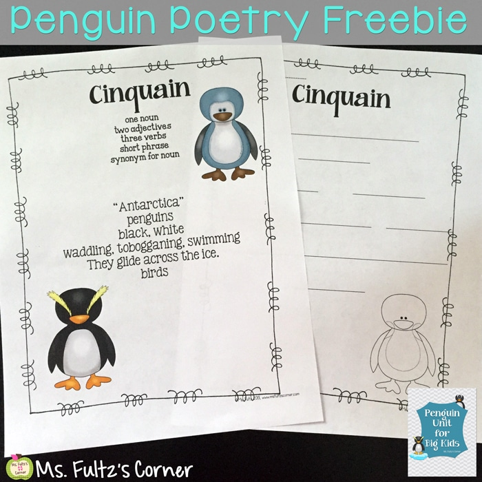 Penguins - Poems for Kids - Teach Junkie
