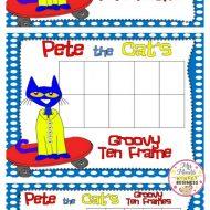 Pete the Cat FREEBIE Ten Frames