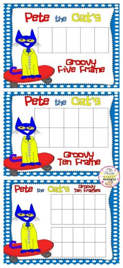 Pete the Cat FREEBIE Ten Frames