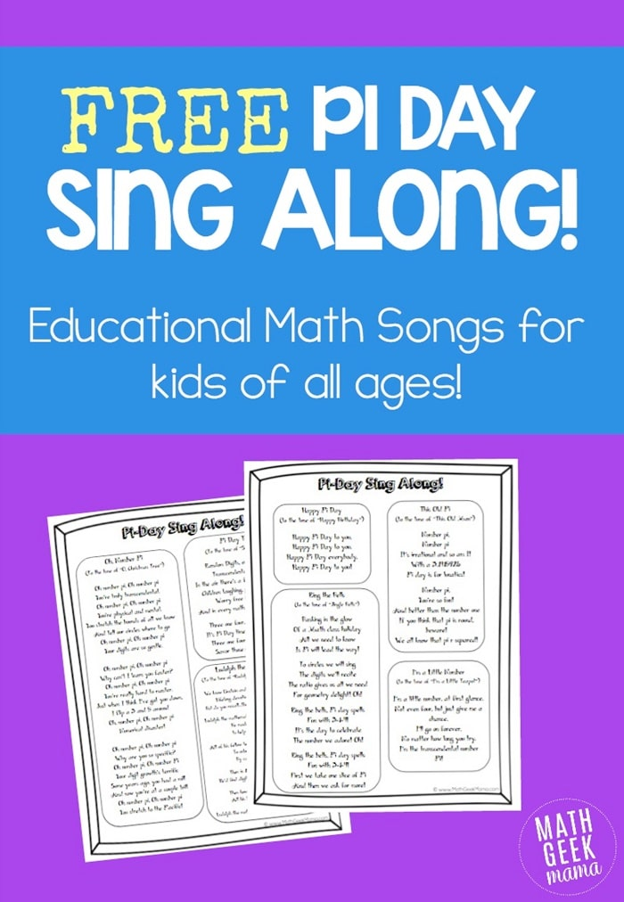 Pi Day Songs for the Elementary Classroom - Teach Junkie