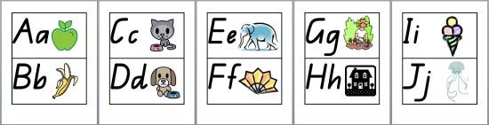 Teach Junkie: 5 Free Printable Word Wall Alphabet Cards - Phonics Based Word Wall Cards