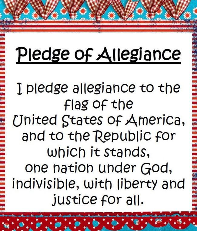 8 Fast and Friendly Patriotic Freebies - Teach Junkie - Pledge of Allegiance