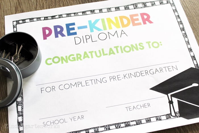 image about Pre Kindergarten Diploma Printable known as No cost Pre-K and Kindergarten Commencement Diplomas - Train Junkie