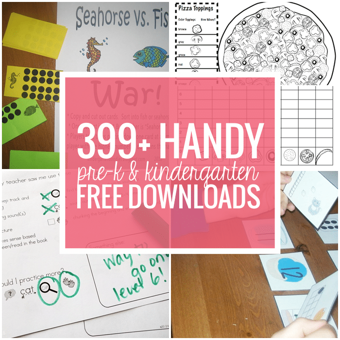 Pre-k and Kindergarten Free Downloads and Teacher Printables