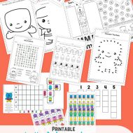 Printable Monsters Worksheets {Kindergarten}