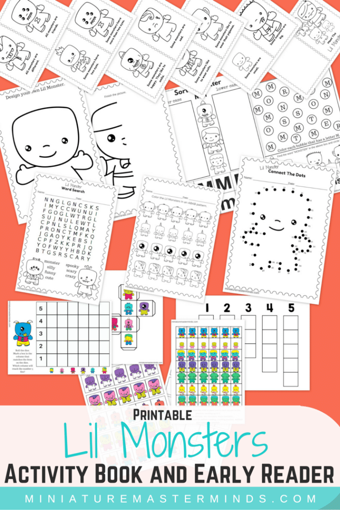 Printable Monsters Worksheets {Kindergarten} - Teach Junkie