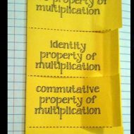 Properties of Multiplication Foldables FREEBIE