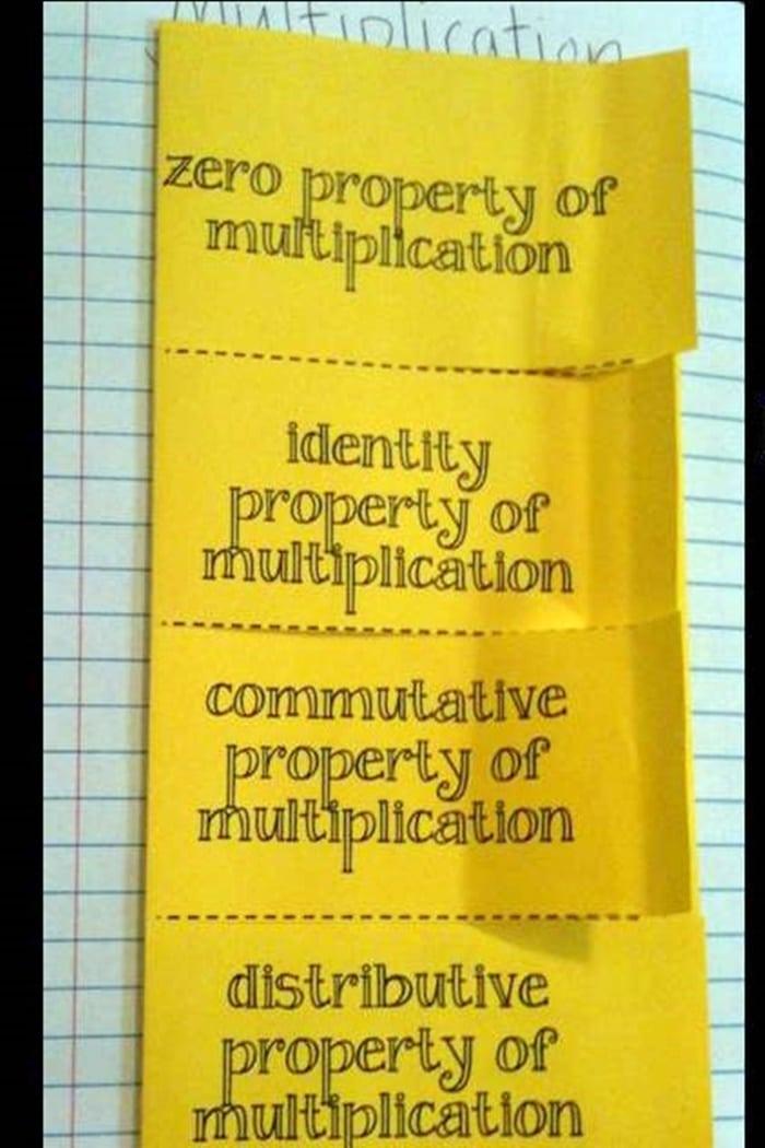 Properties Of Multiplication Foldables Freebie Teach Junkie