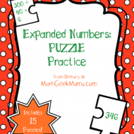 Expanded Form Number Puzzles {Printable}