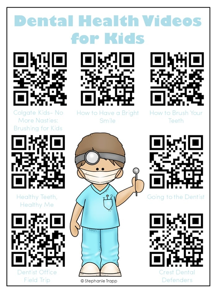 QR Code Audio Stories for the Whole Year! - Dental Health - Teach Junkie