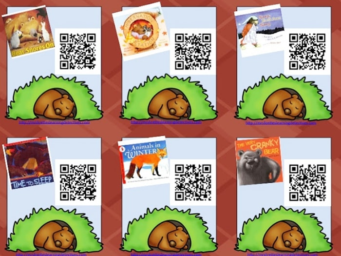 QR Code Audio Stories for the Whole Year! - Hibernation Themed Stories - Teach Junkie