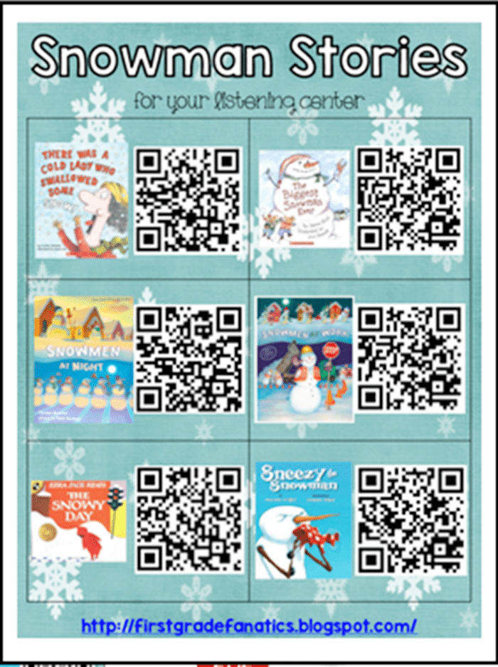 QR Code Audio Stories for the Whole Year! - Snowman Stories - Teach Junkie