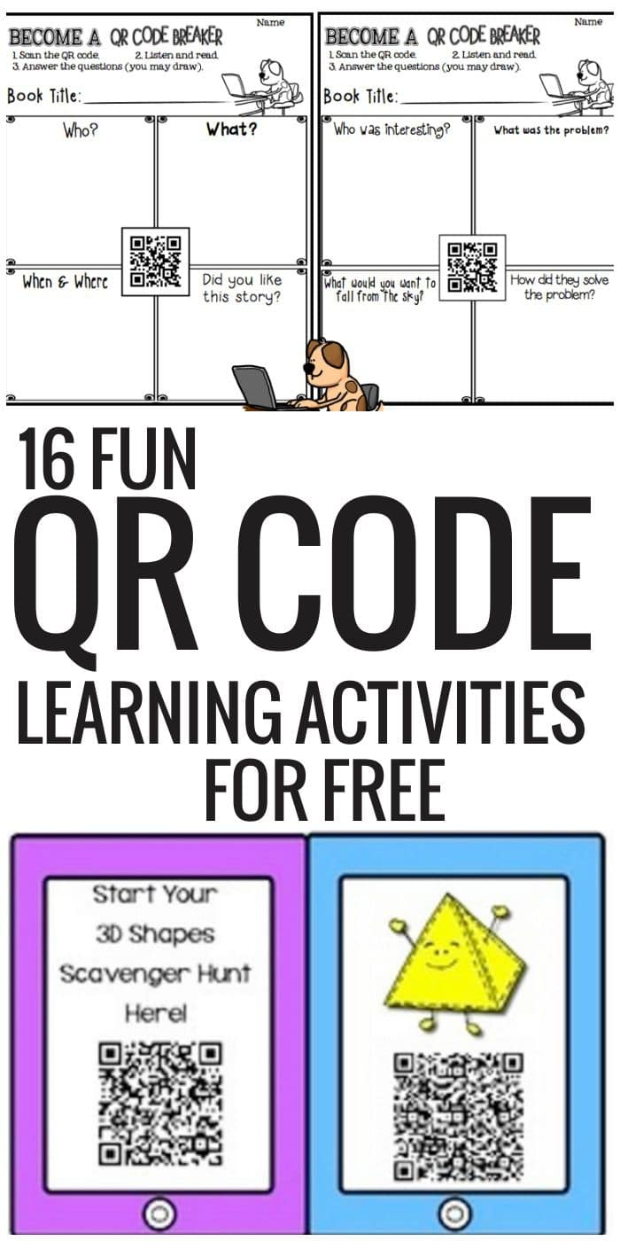 QR Code Learning Activities for Free