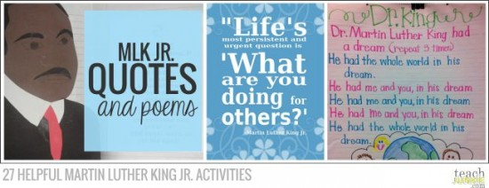 Quotes and Poems - 27 Helpful Martin Luther King Jr. Activities: Teach Junkie