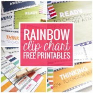Rainbow Clip Chart Freebie +More!