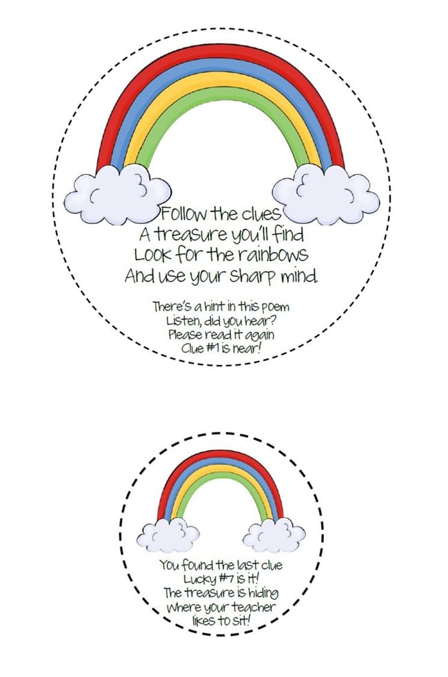 29 Zany St. Patrick's Day Learning Resources - Rainbow Treasure Hunt - Teach Junkie