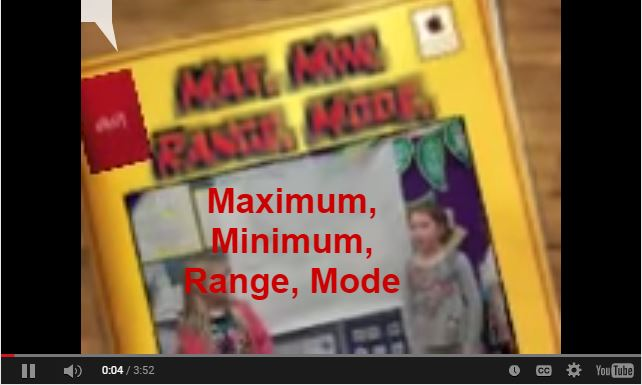 Range, Median, Mode Song for Kids {Video}