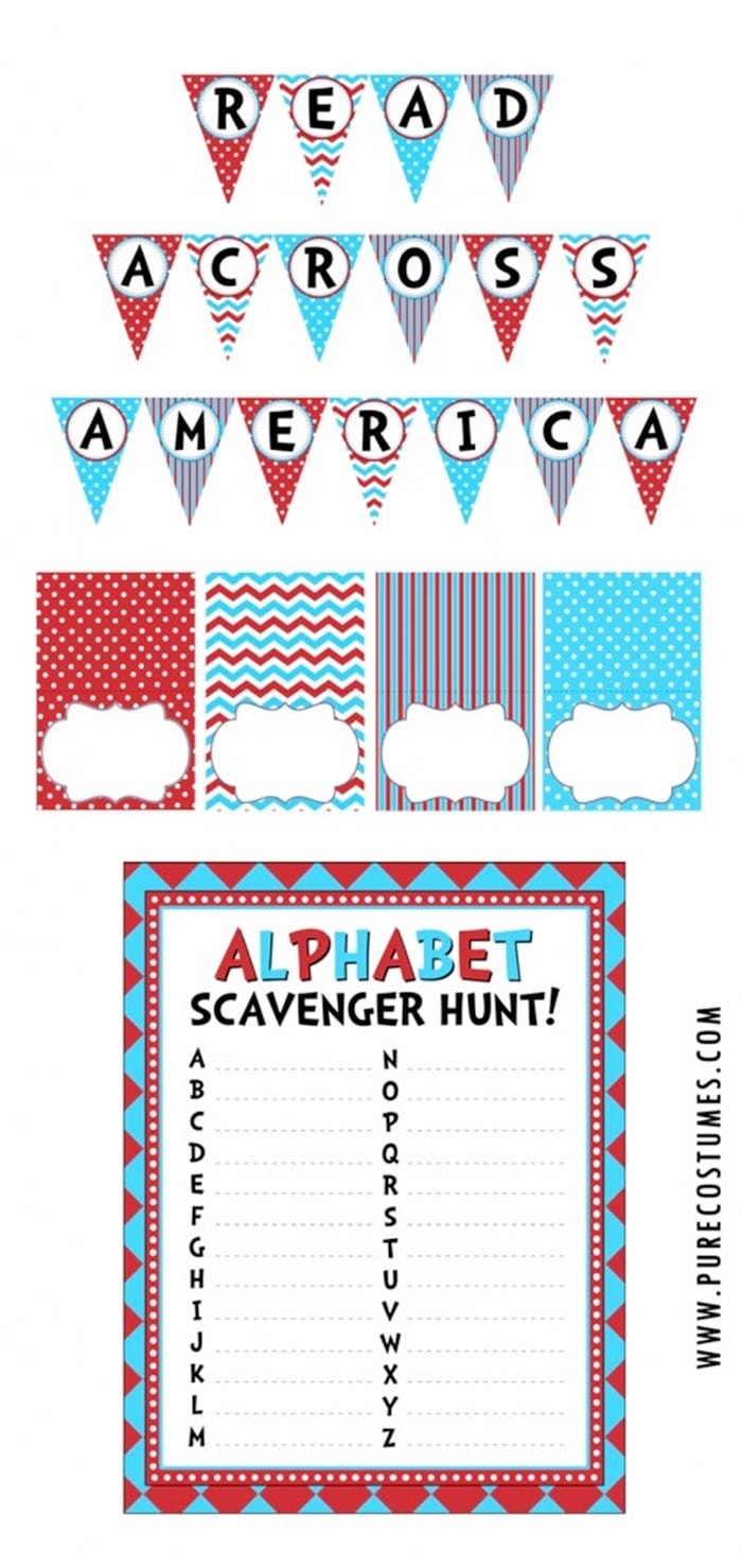 photograph relating to Read Across America Printable known as Study Throughout The usa Get together Printables - Coach Junkie