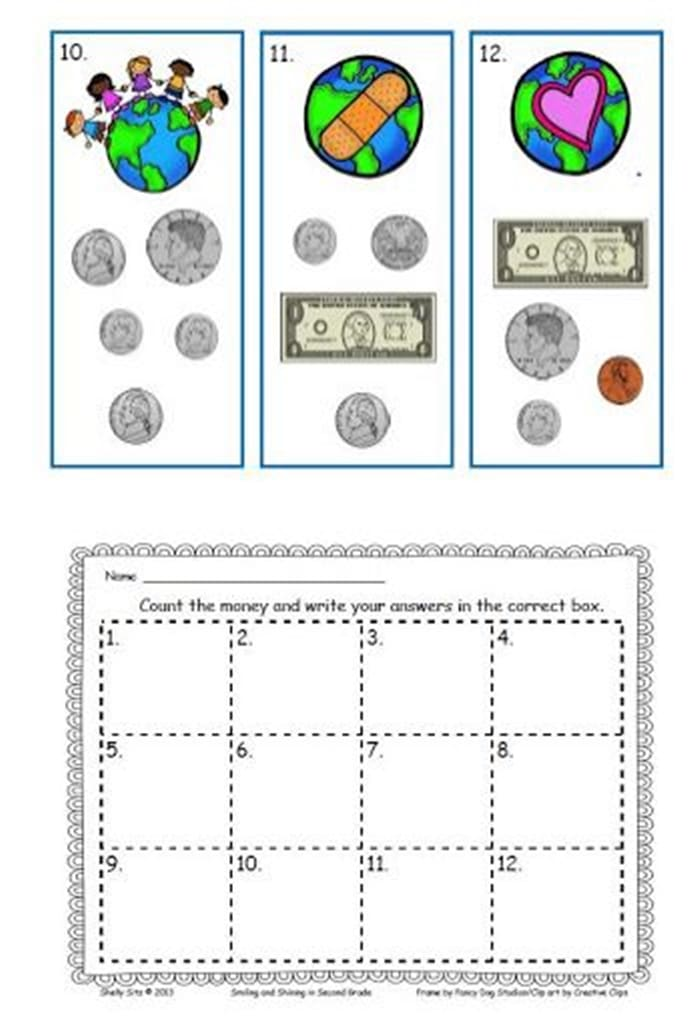 Read the Room an Earth Day Activity - Counting Money