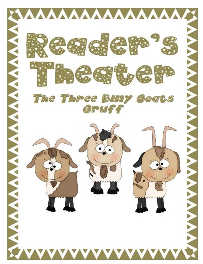 Readers' Theater: The Three Billy Goats Gruff {Free} - Teach Junkie