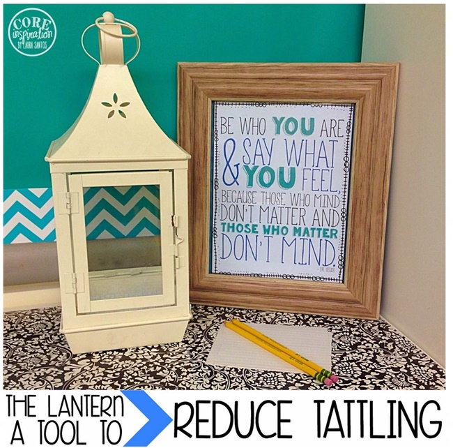 The Recess Tattling Lantern *A Little Classroom Magic*