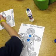 Roll a Number Gingerbread Man Freebie Game