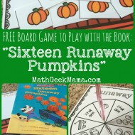 Runaway Pumpkins: FREE Math Board Game