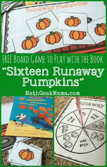 Runaway Pumpkins: FREE Math Board Game - Teach Junkie