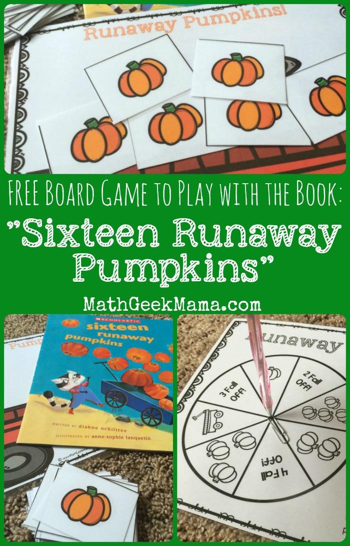 Runaway Pumpkins Free Board Game