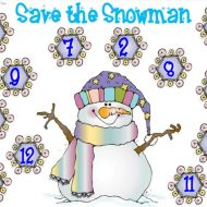 Save the Snowman – 2 Winter Math Freebies