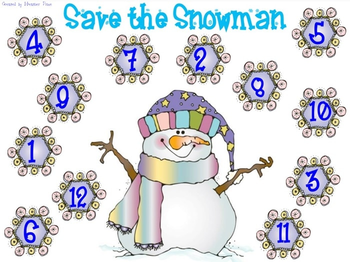 Save the Snowman - 2 Winter Math Freebies