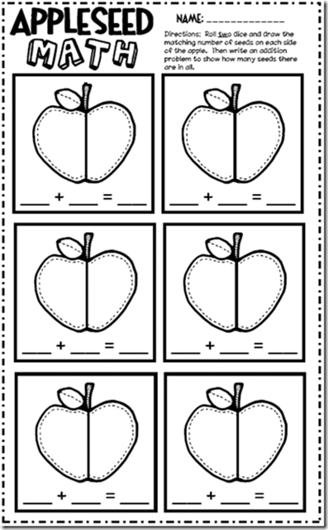 Seed Addition Worksheet