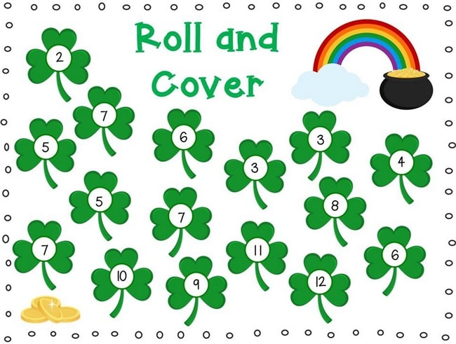 29 Zany St. Patrick's Day Learning Resources - Shamrock Roll and Cover - Teach Junkie