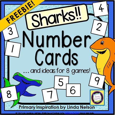 Sharks Number Card Games Free Download - Teach Junkie