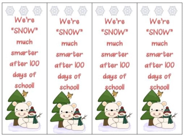 45 Best 100th Day of School Resources - Snow Much Smarter After 100 Days - Teach Junkie