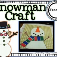 Snowman Craft {Adorable} Freebie