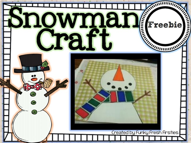 Snowman Craft {Adorable} Freebie: Snowman Craft - Teach Junkie