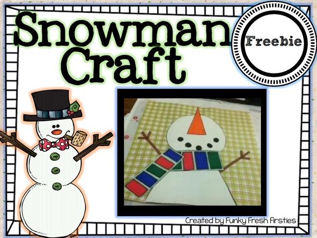 Snowman Craft {Adorable} Freebie: Snowman Craft - Teach Junkie