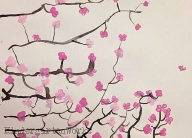 Spring Art Project Japanese Cherry Blossom - Teach Junkie