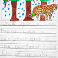 Sticker Story Writing – A Free, Year Long Literacy Center Activity
