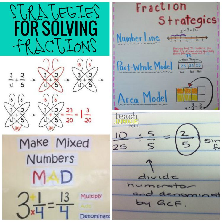 Strategies for Solving Fractions - Teach Junkie